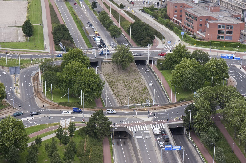 A junction in the Netherlands (Rotterdam)